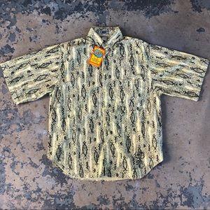 NWT & VTG 1980's Short Sleeve Button Up Shirt